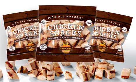 Cubed Chicken Snacks