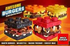 Toy Brick Burgers - The Brick Burger Restaurant Has Created LEGO-Themed Burgers