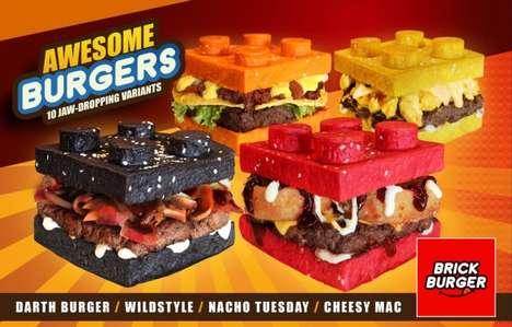 Toy Brick Burgers