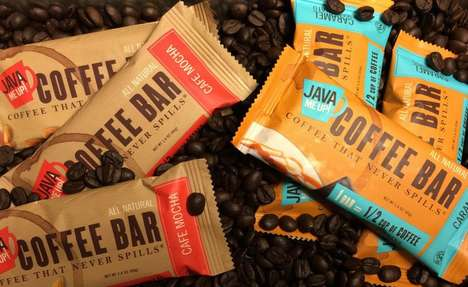 "Energizing Coffee Bars - 'Java Me Up' Brands Its Solid Coffee Snack as ""Coffee That Never Spills"""