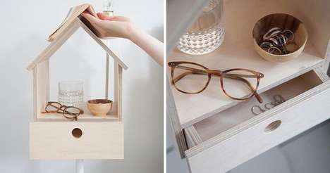 Birdhouse Bedside Tables - These Bedside Tables from Siebring & Zoetmulder Design are Cute