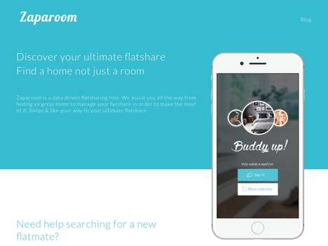 Roommate-Finding Apps - 'Zaparoom' Streamlines the Process of Finding a Roommate