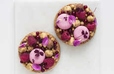 Textured Almond Berry Cakes - Maja Vase's Raspberry and Licorice Dessert is Aesthetically Elegant