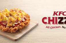 Fried Chicken Pizzas - The KFC Chizza is Available in Singapore