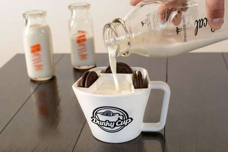Dunk-Encouraging Cookie Cups - The 'Dunky Cup' Milk Mug Cup Has Space for a Drink and Desserts