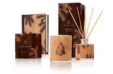 Outdoorsy Organic Diffuser Collections - This Collection Features Forest-Like Wooden Packaging
