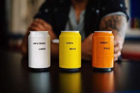Embossed Craft Beer Cans - These Beers Feature a Minimal Design with Coordinated Colors