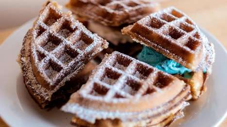 Breakfast Waffle Sandwiches - Boardwalk Waffles & Ice Cream Puts a New Spin on a Favorite Combo