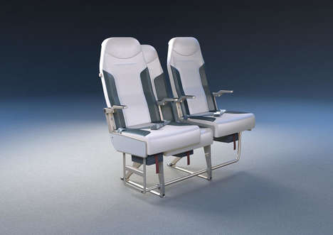 Space-Maximizing Airplane Seats - The Side-Slip Seat System Makes the Middle Spot More Desirable