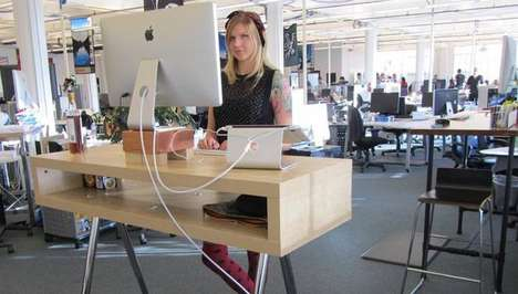 Health-Focused IOT Desks - This Office Work Desk Lets You Know When to Sit and When to Stand
