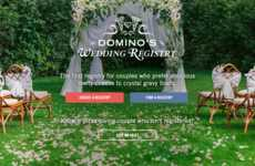 Pizza Chain Wedding Registries - Domino's Now Offers Its Own Online Wedding Registry for Couples