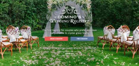 Pizza Chain Wedding Registries