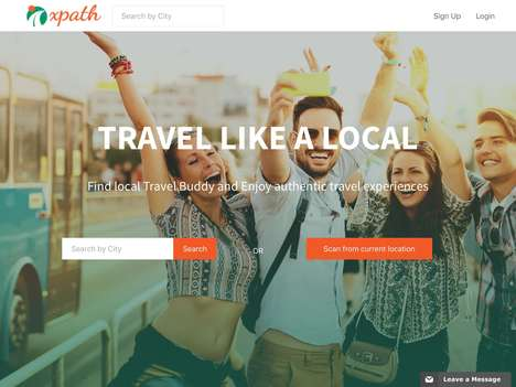 Local Travel Buddy Platforms - 'xpath' Connects Travelers to Local Travel Guides for Fun and More