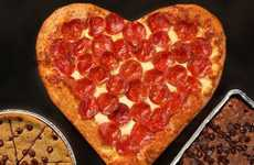 Heart-Shaped Pizza Crusts - Pizza Hut is Putting a Romantic Twist on Pizza This Valentine's Day