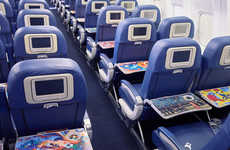 Artistic Airline Tray Tables - Delta Tray Tables Will Be Decorated with Designs from Famous Artists