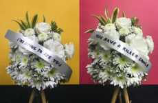 Romantic Funeral Wreaths - Saint Jo Flowers Offers Witty Valentine's Day Flowers with Funereal Text