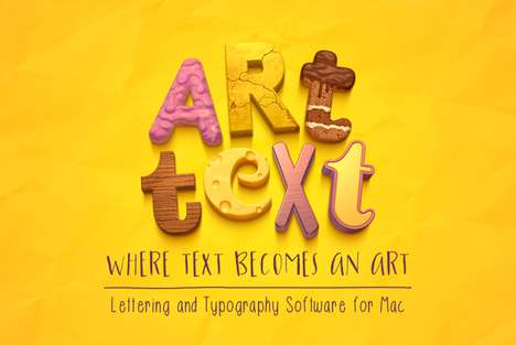 Graphic Font-Creating Software - 'Art Text 3' is Mac Software That Lets Users Design Fonts