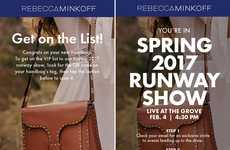 Connected Designer Bags - These Rebecca Minkoff Bags Provide Exclusive Access to Fashion Week Shows