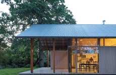 Transparent Tin-Roofed Houses - Villa Sterkenburg Has a Corrugated Tin Roof and Glass Walls