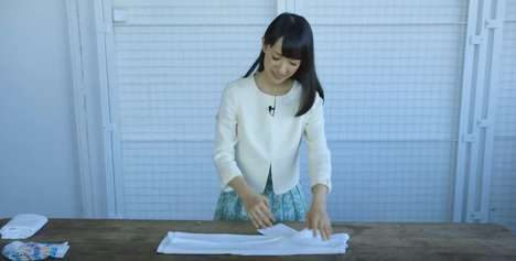 Precise Folding Tutorials - Marie Kondo's Organizational Tutorial Ensures Clutter-Free Drawers