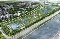 Ecological Bird Airports - McGregor Coxall Will Design a Bird Sanctuary at the Lingang Eco Park