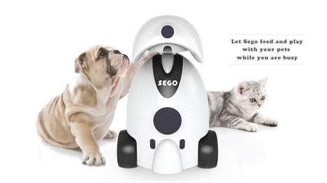 Robotic Pet Companions - The 'Sego' Pet Companion Robot Feed and Cares for Cats and/or Dogs