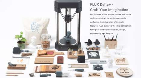 Versatile 3D Printing Devices - The FLUX Delta+ Offers a Host of Features
