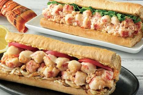 Toasted Seafood Sandwiches - Quiznos' New Lobster & Seafood Scampi Bake Boasts Garlic-Baked Lobster