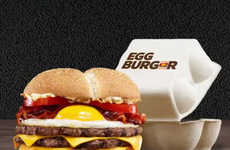 Fried Egg-Topped Burgers - Burger King France's New Egg Burger is Topped with a Sunny Side Up Egg