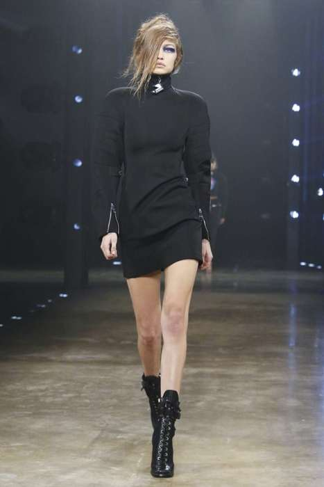 Luxe Nightclub-Inspired Fashion - The New Versus Versace Line Boasts Dark Futuristic Looks