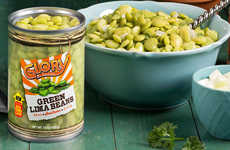 Transparent Bean Can Branding - The Glory Farms Canned Beans Have a See-Through Can Design