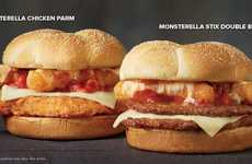 Mozzarella Stick-Topped Burgers - Checkers and Rally's New Burgers are Made with 'Monsterella Stix'