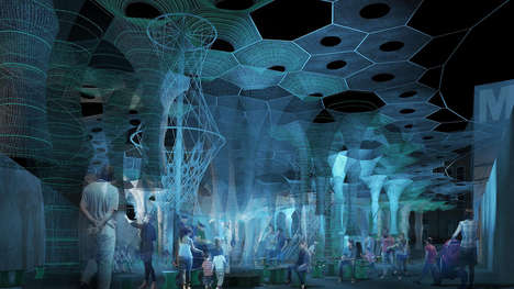 Robotically Knitted Solar Canopies - Jenny Sabin Studio's 'Lumen' will be on Display at MoMA PS1