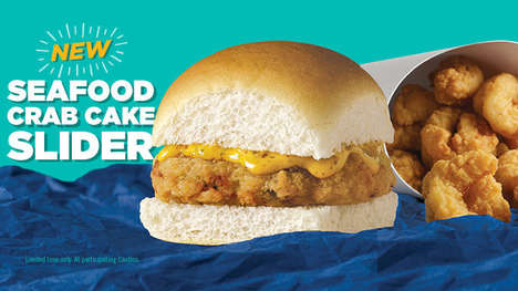 Snack-Sized Seafood Burgers