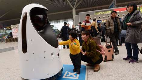 Chinese Police Robots - The E-Patrol Robot Sheriff Uses Facial Recognition to Track Criminals