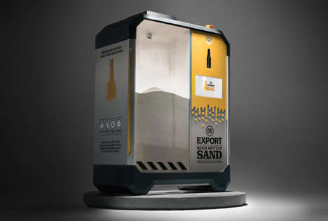 Bottle-Repurposing Machines - DB Breweries' Machines Turns Beer Bottle Glass to Sand