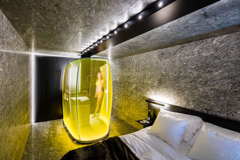 Colorful Shower Bubbles - Morphosis Added Some Whimsy to Its Hotel Room Refurbishments