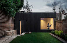 Wood-Clad Garden Gyms - Eastwest Architecture has Built a Gym in the Garden of a London Home