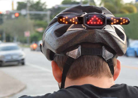 Cyclist Helmet Turn Signals