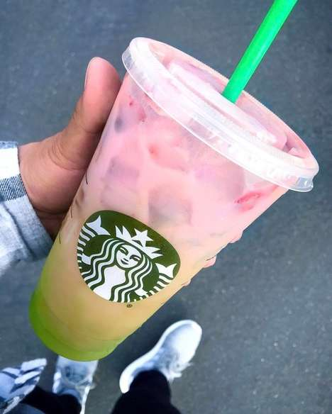 Ombre Superfood Drinks - Starbucks' 'Matcha Pink Drink' Will be Part of The Chain's Secret Menu