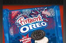 Popping Candy Creme Cookies - The Nabisco Oreo Firework Cookies are Limited-Edition