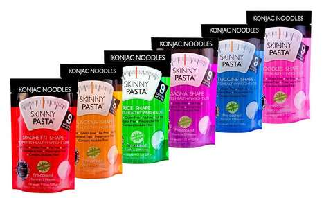 Fiber-Rich Diet Noodles - The Konjac Skinny Noodles are Weight Loss Food with Natural Ingredients
