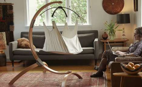 Suspended Infant Napping Cribs - The Hushamok 'Okoa' Baby Hammocks Encourage Natural Sleep
