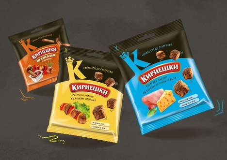 Flavored Crouton Branding - The Kirieshki Bread Croutons Pack a Flavorful Crunch