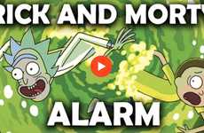 Cult Cartoon Alarm Apps - The Rick and Morty Alarm Wakes Users With Scream Notifications