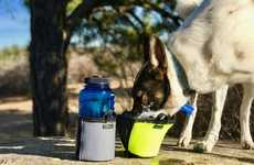 Rugged Travel Dog Bowls - The 'PawBowl' Portable Dog Bowl is Insulated and Flexible