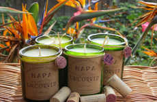Upcycled Wine-Scented Candles - These Handmade Candles are Poured in Recycled Wine Bottles