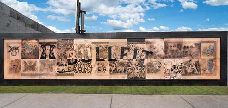"Tattoo Art Murals - Bulleit Whiskey Teamed Up with Local Tattoo Artists to Create a ""32-Foot Tattoo"""