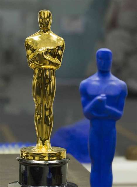 3D-Printed Awards Statuettes - This Year's Oscars Statues Were Created with Additive Manufacturing