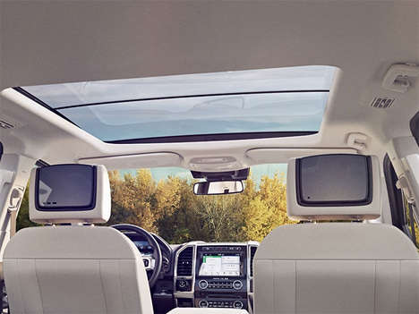 In-Car TV Streaming - The New Ford In-Car Entertainment System Options are Ready for Long Trips
